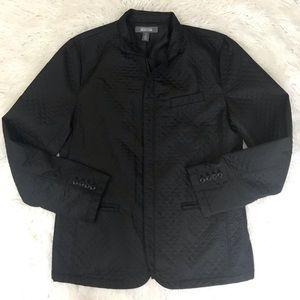 Kenneth Cole quilted blazer jacket black